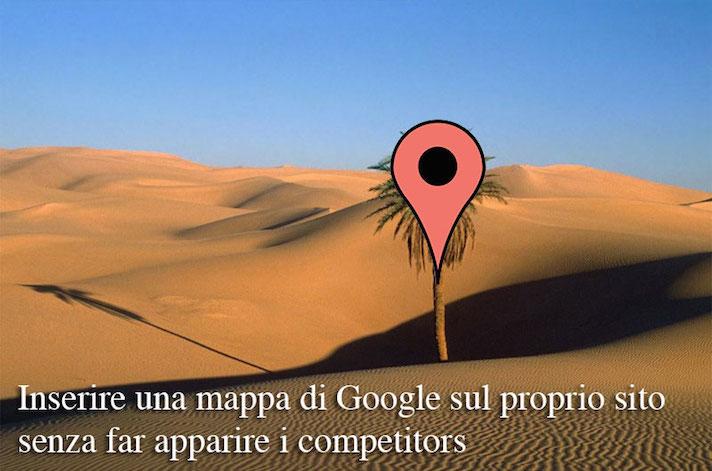 3 semplici step per avere le Google Maps senza attività concorrenti