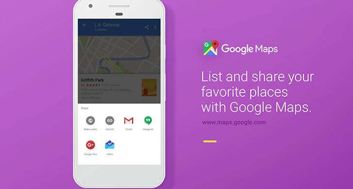 Un nuovo aggiornamento di Google Maps: arrivano le liste personalizzate