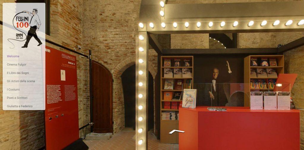 Visita virtuale della nuova mostra Fellini 100 a Rimini