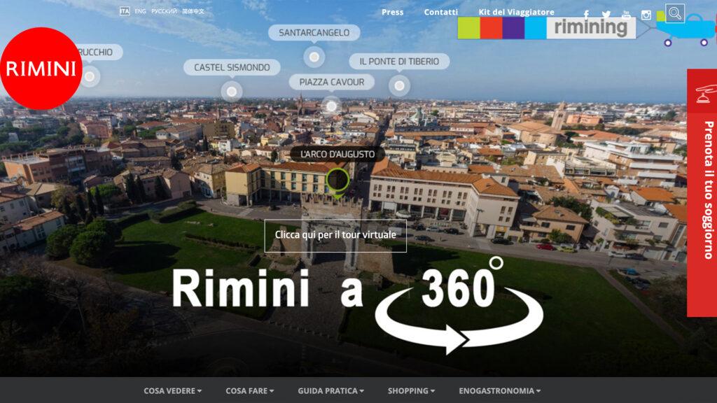 Il successo del virtual tour aereo di Rimini