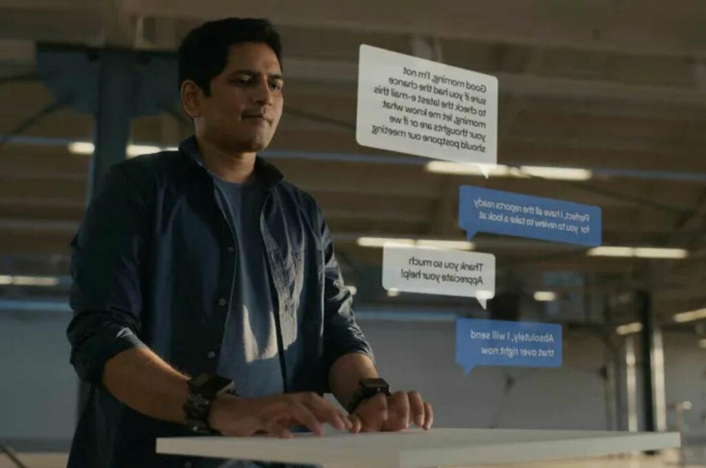 digitare-con-tastiere-virtuali-tramite-il-braccialetto-per-la-realtà-aumentata